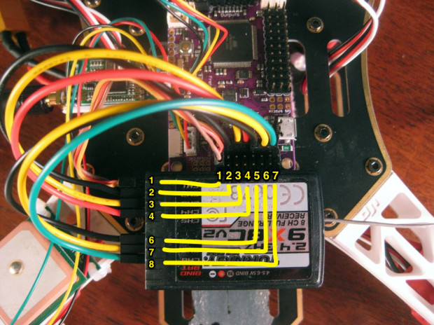 ArduFlyer Turnigy 9x receiver wiring diagram