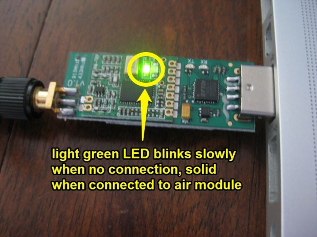 ArduFlyer Telemetry ground module connection light